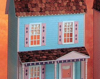 Barbie Dollhouse Kit / Country Farmhouse Unfinished Dollhouse Kit in Playscale Size for Barbie