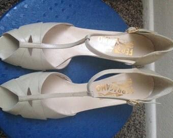 Vintage Salvatore Ferragamo T-Strap Heels