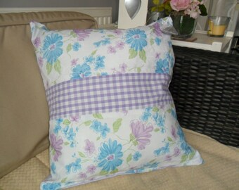 Totally Handsewn Cushion/Pillow with Lavender Bag