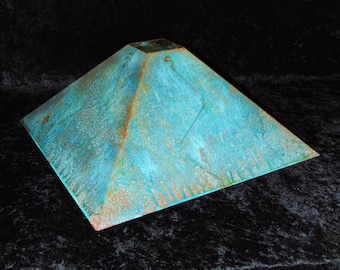 Lamp shade Green copper patina 18""