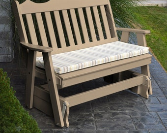 Recycled Plastic Royal English 4ft. Porch Glider