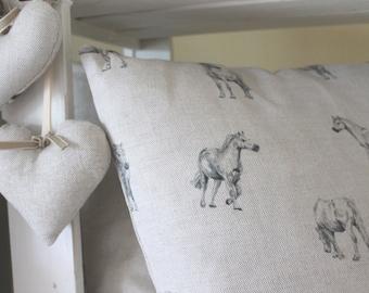 Grey Ponies Prancing, Cushion