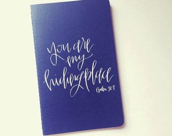 Hand lettered Scripture Moleskine Journal