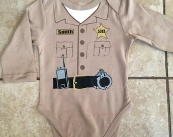 Sheriff/Deputy/Constable/Trooper LONGSLEEVE Bodysuit ONLY