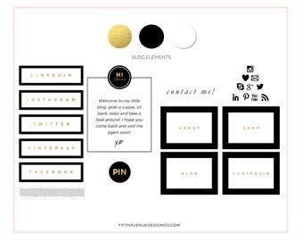 Blog Makeover Kit - Black & Gold