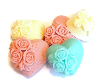 10 Wedding hearts soap shower favors, Bridal shower soap favor, Heart wedding soap favor, Soap wedding favors,  Heart wedding favor soap