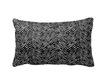 7 Sizes Available: Decorative Throw Pillow Cover Decorative Pillow Black Pillow Black and White Pillow Herringbone Pillow