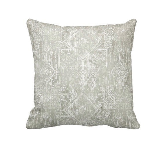Grey Throw Pillow Cover Tribal Pillow Cover Aztec Pillows