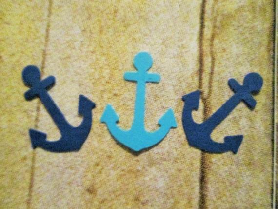 Basket Weaving Supplies Toronto : Die cut assorted blue anchor confetti for birthday