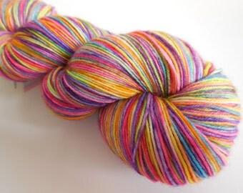Crayola Burst Hand Dyed Superwash BFL/ Nylon Sock Yarn