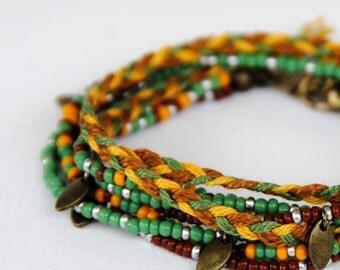 "Bracelet ""milky way"" (green, Brown)"