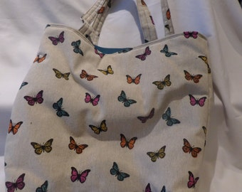 Tote bag with butterfly design