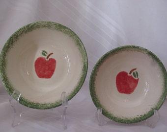 Apple Series Serving Bowls - Set of 2