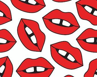 Crib Sheet Red Lips, Fitted Crib Sheet, Baby Bedding, Crib Bedding, Organic Crib Sheet, Crib Sheets, Modern Crib Sheet, Baby Girl Bedding