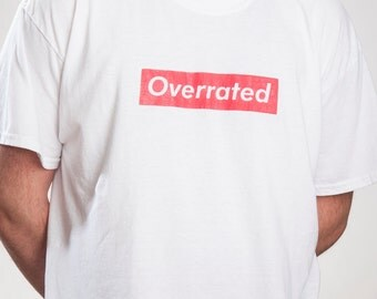 Overrated apparel / White box logo t shirt