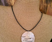 WD-Birch Bark Necklace, Unisex Necklace, Natural Jewelry by One Earth Exchange, New Beginnings
