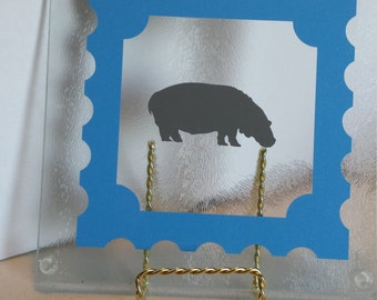 Hippo Glass Cutting Board