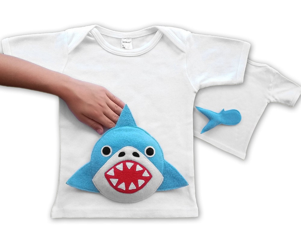 Shark Shirt Shark Tshirt Shark Clothing Baby Shark Boy