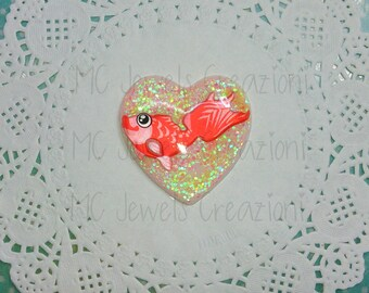 Pendant/resin Cabochons goldfish kawaii
