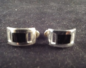 Black Onyx Mexican Sterling Pierced Earrings  Vintage jewelry, Ethnic Jewelry, Free Shipping