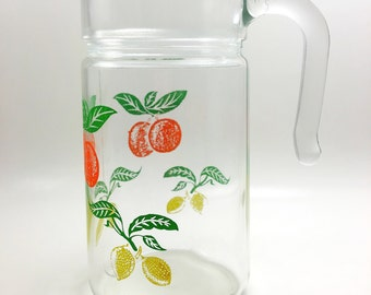 Vintage Italian Juice Pitcher, Vintage Carafe Made In Italy