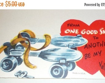 on sale From One Good Skate to Another, Be My Valentine!  Vintage Card
