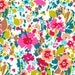 Garnett Magenta Teal, Liberty Lifestyle Fabric Bloomsbury Gardens Collection OOP VVHTF_FQ Fat Quarter