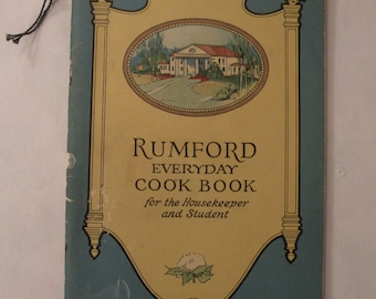 Rumford Everyday Cook Book for Housekeeper and Student 1924