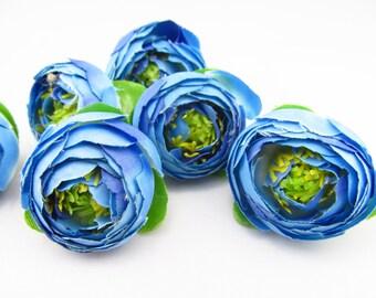 Mini Buds Blue /  Flower Head / Millinery Supply / Artificial flower / Mini flower Bud