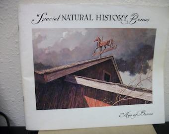 Rare 1967 Eric Sloane book An Age of Barns Natural History Bonus