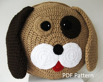 PDF Crochet Pattern My best friend Dog Cushion / Pillow