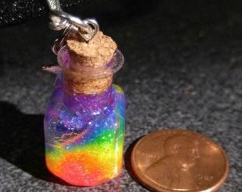 Rainbow In A Bottle Wish Bottle Choker