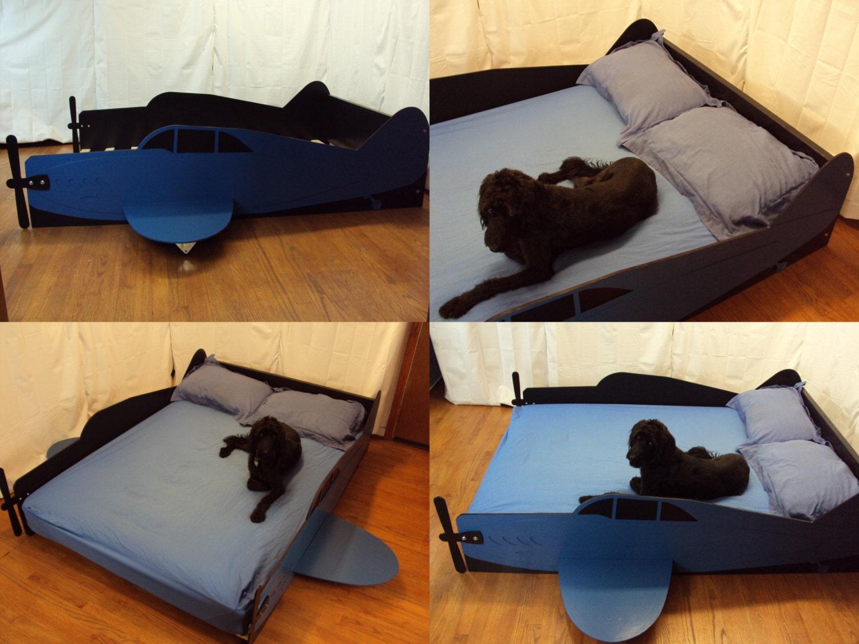 aircraft full kids bed frame handcrafted by tradecraftspec. Black Bedroom Furniture Sets. Home Design Ideas