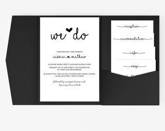 DIY Word Template Wedding Invitation Stationary Set | Editable Word Template | Invitation and RSVP | Rustic vintage | Kraft