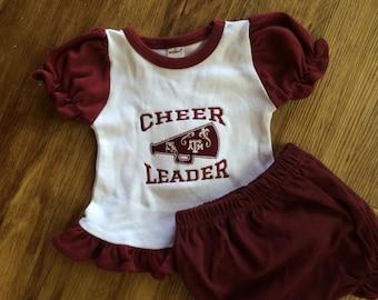Embroidered Texas A&M Shirt, Aggie Baby Gift, Aggie Cheerleader, Aggie Bodysuit