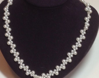 Spiral Pearl Necklace