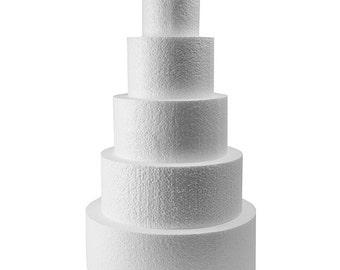 """Fake Dummy Cake Polystyrene 4"""",6"""",8"""",10""""& 12"""" x4"""""""