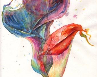Flower in Motion Print