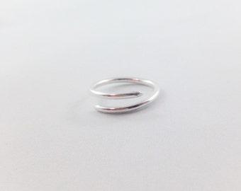 Sterling Silver Half Spiral Ring