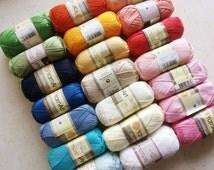 100% mercerized cotton yarn knitting crochet by Yarnart begonia 50g 169m