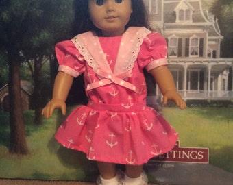 American girl doll Samantha middy sailor dress