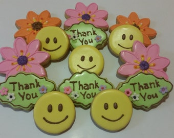 Thank You / Mother's Day / Get Well Cookie Set - 15 cookies