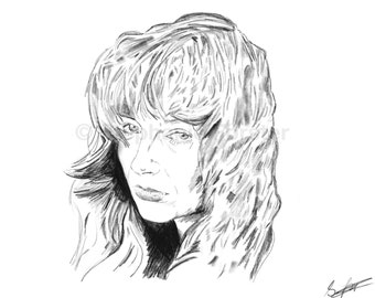 Kate Bush A4 Print (Sketch) Natural Portrait