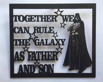 Father and Son Laser cut plaque