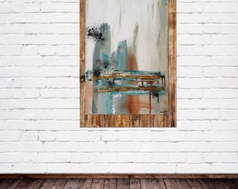 Abstraktion IV - Original mixed media painting on canvas - uooops - art - home decor