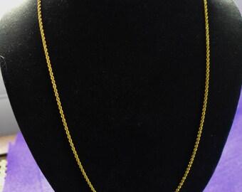 "Estate 21Kt Gold Robe Chain In Excellent Condition 23""Round"