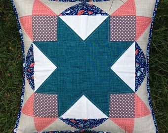 Pink and Teal Quilty Pillow