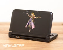 Princess Zelda Legend of Zelda decal sticker for nintendo 3ds xl, iPhone, iPad, macbook ma354