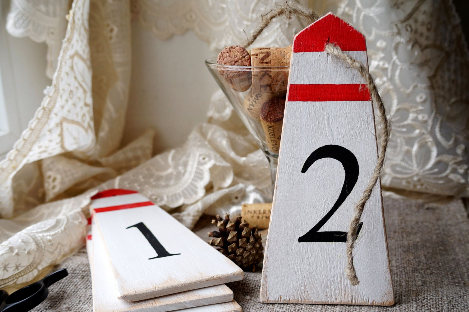 Superb img of Wedding table numbers Nautical wedding decor by WoodStreets with #B90A0E color and 1500x999 pixels