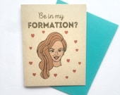 Beyonce Bridesmaid Card - Handmade Be in my Formation Bey Wedding Maid of Honor Invitation Punny A2 Fully Foiled Kraft Card